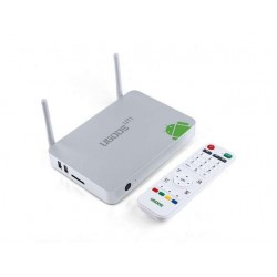 Ugoos UT1 Mini TV BOX Rockchip RK3188 Quad Core Cortex A9 Android 4.2 Double External Wi-Fi Antena RJ45 AV (Plata)