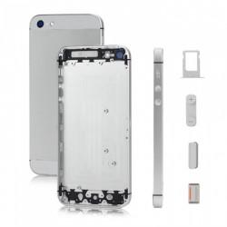 Tapa trasera iPhone 5 A1428 A1429 A1442 plata y blanco