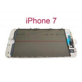 Cristal iPhone 7 con marco OCA y film polarizado Original blanco