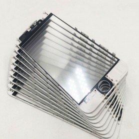 Cristal iPhone 6S con marco OCA y film polarizado Original blanco