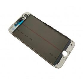 Cristal iPhone 8 Plus con marco OCA y film polarizado Original blanco