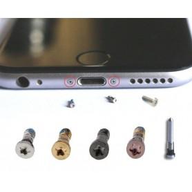 Tornillos iPhone 6 o 6S negro conector de carga