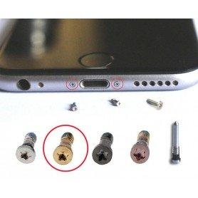 Tornillos iPhone 6 o 6S oro conector de carga