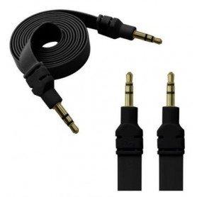 Cable plano anti enredo auxiliar Jack 3.5 oro