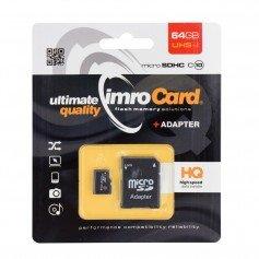 IMRO MicroSDXC 64GB clase 10 UHS-I con adaptador