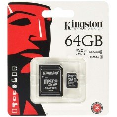 Tarjeta memoria Kingston microSDXC 64GB UHS-I clase 10 con adaptador