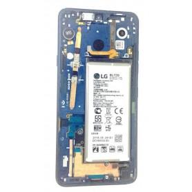Marco con botones, bateria, vibrador y jack audio azul LG G7 thinQ pantalla rota