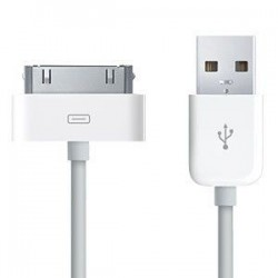 Cable datos para Apple iPhone 1 / 3G / 3GS / 4 / 4S Cable USB