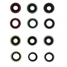 Cristal camara completa con marco iPhone 11 2 unidades negro