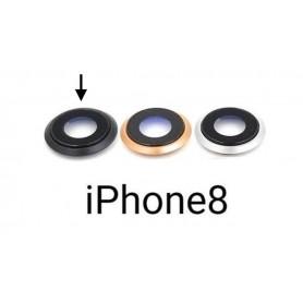Cristal camara completa con marco iPhone 8 negro
