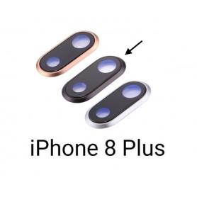 Cristal camara completa con marco iPhone 8 Plus negro