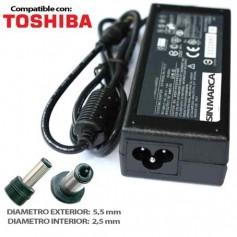CARGADOR PORTATIL TOSHIBA 19V 3.16A 60W COMPATIBLE