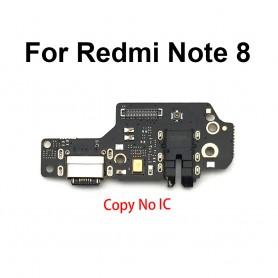 Flex Conector Carga Xiaomi Redmi Note 8 placa