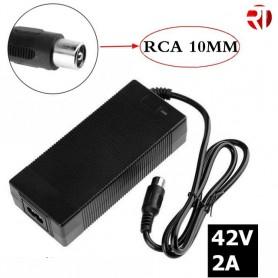 Cargador 42V RCA 10mm