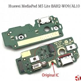 Cable flex conector carga Huawei MediaPad M5 Lite placa USB