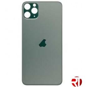 Tapa trasera iPhone 11 Pro Max cristal solo verde (fácil instalación)(CE) repuesto