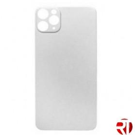 Tapa trasera iPhone 11 Pro cristal solo Plata (fácil instalación)(CE) repuesto