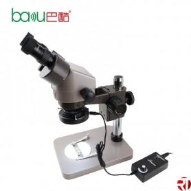 Microscopio Binocular Alto Resolución BAKU BA-008 Con LED Lámpara Incluida
