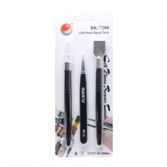 Kit 3 herramientas para abrir tablet o smartphone BAKU BK-7280-A