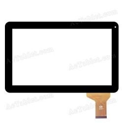 Pantalla tactil YTG-P10025-F1 V1.0 cristal digitalizador