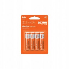 4 Pilas Alcalinas ACME LR6 AA