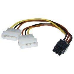 ADAPTADOR CABLE 2 MOLEX IDE A TARJETA GRAFICA PCI Express