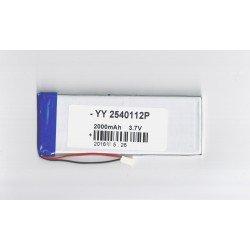 Batería phablet 3,7v 2000 mAh 112 x 41 x 2mm