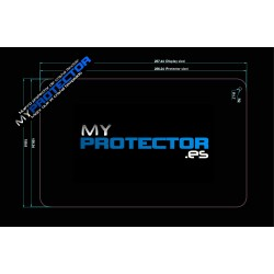 Protector pantalla tablet 10 pulgadas 257 x 159mm cristal flexible