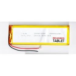 Repuesto batería 150 x 48 x 3,5mm 3800mAh para tablet