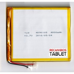 Batería 4800mAh para tablet 107 x 90 x 3,5mm