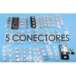 5 Conectores microusb para smartphone o tablet