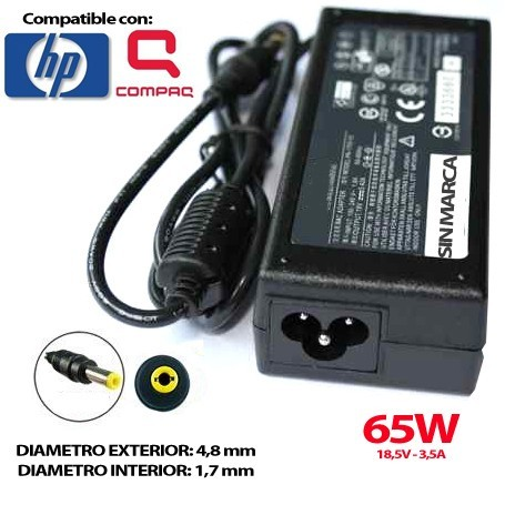 CARGADOR PORTATIL HP 18.5V 3.5A 65W COMPATIBLE