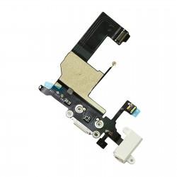 Cable flex conector de carga IPHONE 5 blanco