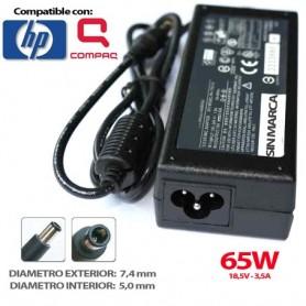 CARGADOR PORTATIL HP COMPAQ 18.5V 3.5A 65W COMPATIBLE
