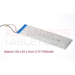 Batería 156 x 63 x 3mm 3,7V 7000mAh