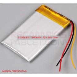 Batería para tablet 7000mAh 92 x 90 x 3mm