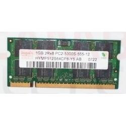 Tarjeta de memoria 1GB 2Rx8 PC2-5300S-555-12 HYMP512S64CP8-Y5 0722