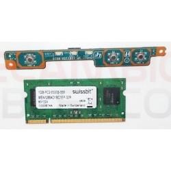 Tarjeta de memoria 1GB-PC2-5300S-555 Y Tarjeta de botones M722-H SWX-279 MEN12864D1BC1EP-30R