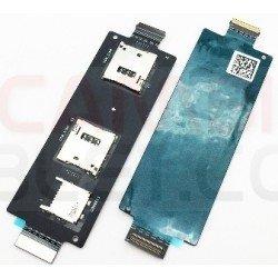Conector de tarjetas SIM y SD Asus ZenFone 2 ZE551ML ZE550ML
