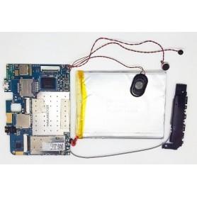 Placa base ELINK-MV706Z_V2 con batería, cable de antena y altavoz Wolder miTab Freedom