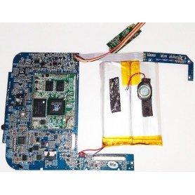 Placa base BLY-706F-10 y con botones de volumen y power Wolder miTab CITY Pro