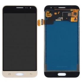 Pantalla completa Samsung Galaxy J3 2016 SM-J320F DORADO brillo ajustable