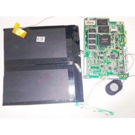 Placa base altavoz, botones de power y volumen y cable de antena Blusens Touch 96